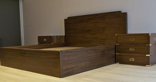 A Simple And Elegant Campaign Style Bedroom Set Custom