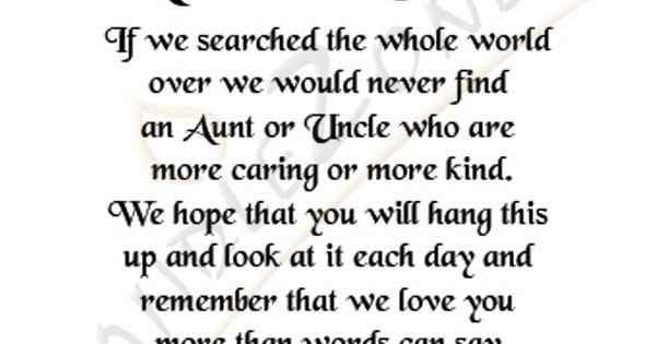 17 Best Quotes For Aunts On Pinterest: Aunt And Uncle Poems And Quotes