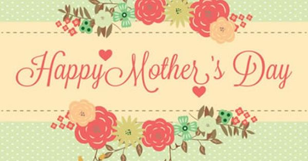 Chic Retro Happy Mothers Day Card Selamat Hari Ibu Hari Ibu