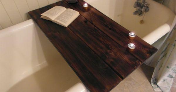Custom Made Reclaimed Wood Bathtub Caddy By