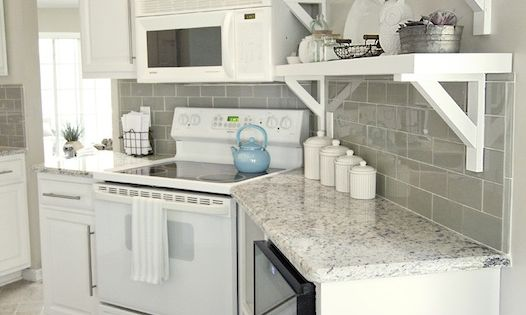 Jenna sue design stunning white and gray kitchen with for Kitchen designs in kashmir