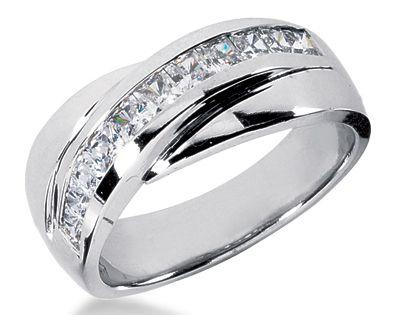 platinum s wedding band 1ct unique