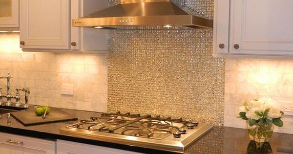 I Love This Backsplash Very Glitter Full For The Home
