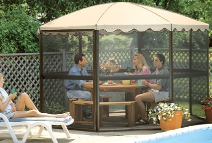 Casita Round Screen Enclosure Gazebo Gazebo On Deck Camping Gazebo