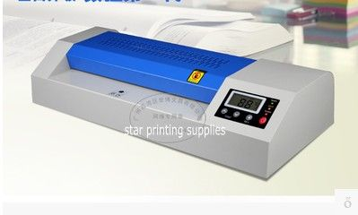 2017 New Hot Roll And Cold Roll Laminator 320mm Laminating Machine With Led Control Board And 4 Pcs Rubber Rollers Laminators Printing Supplies Cold Rolled