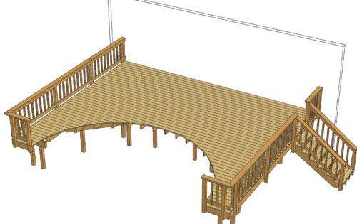24 X 20 Pool Deck At Menards Pool Deck Plans Above Ground