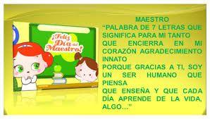 Frases Alusivas Por El Día Del Profesor Día De Los