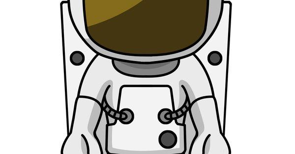 Cartoon Astronaut With Enlarged Head