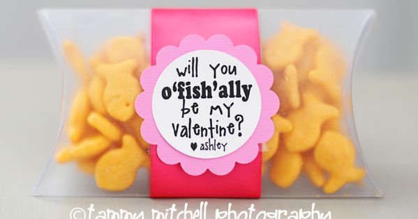 Valentine Ideas for Preschool: Will you o 'fish' ally be my valentine?