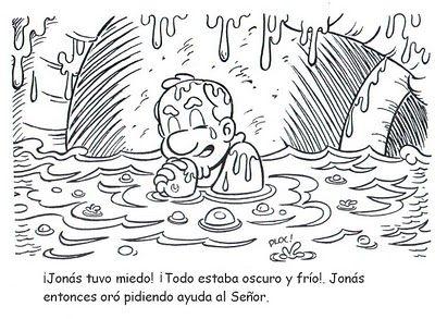 Historia Biblica De Jonas Para Colorear Con Imagenes Lecciones