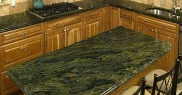 Kitchen Green Emerald Granite Countertop Ideas For