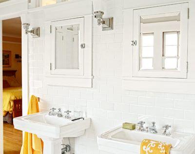Recrafting a 1915 craftsman white subway tiles medicine for 1915 bathroom photos
