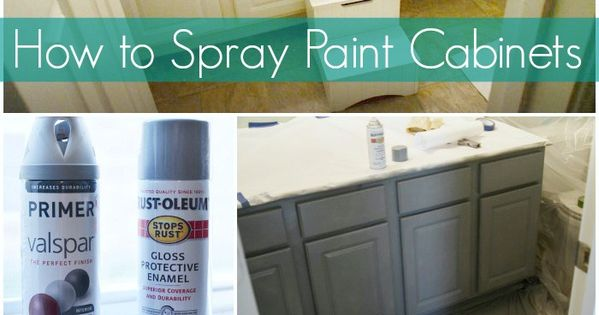 How To Spray Paint Cabinets Bathroom Makeover Learn How To Spray Paint Cabinets And Decorate A
