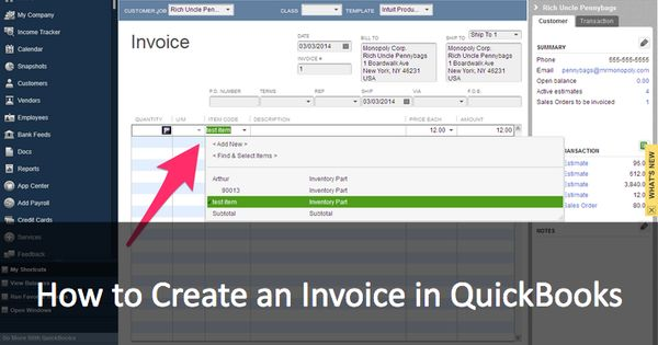How to create an invoice in QuickBooks MethodBlog Pinterest - how to create invoices