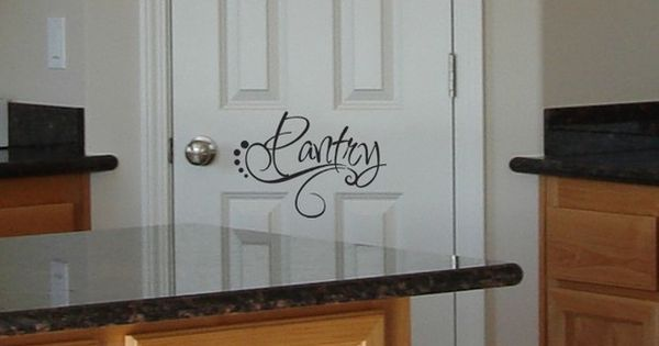Pantry kitchen home decor door decals kitchen decor for Kitchen letters decoration