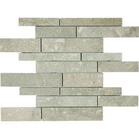 Shop Anatolia Tile Seagrass Limestone Mosaic Wall Tile Common 12 In X 12 In Actual Stone Mosaic Wall Limestone Wall Tiles Mosaic Wall Tiles