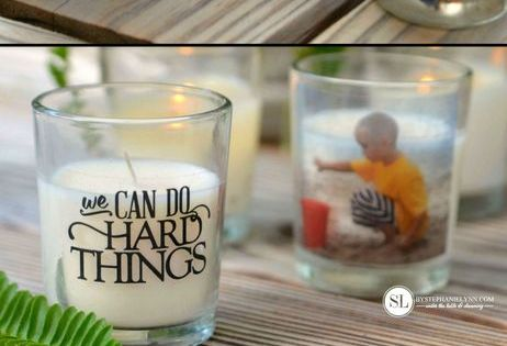 Custom Photo Candle Holders   Tape, Photos and DIY and crafts