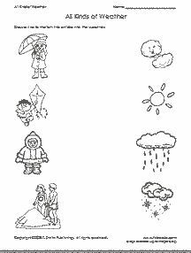 Free Preschool Worksheets Worksheets For Preschool Pre Kindergarten Weather Worksheets Free Preschool Worksheets Preschool Weather