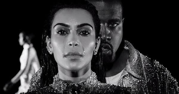 Kanye West And Kim Kardashian Cry Glamorous Tears In Wolves Video Kanye West And Kim Kim Kardashian Cry Kanye West