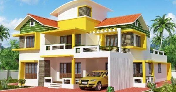 House exterior ideas exterior kerala home design plans for Duplex house models kerala
