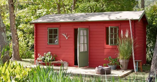 abri de jardin rouge chalet bois leroy merlin fleurs et potager flowers pinterest bois. Black Bedroom Furniture Sets. Home Design Ideas