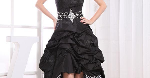 Ball Gown Sweetheart Taffeta Bubble High Low Dress