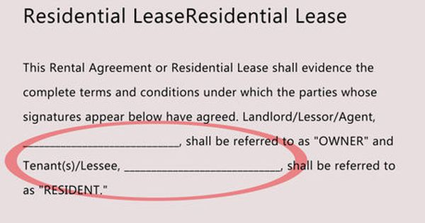 How To Write A Lease Rental Agreement Templates Lease Agreement Lease