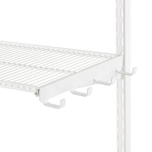 White Elfa Ventilated Wire Shelf Bracket Hooks Wire Shelving
