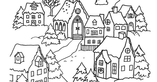 Village De No 235 L Coloriage Adulte No 235 L Pinterest