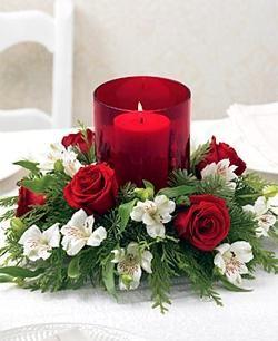 Lovely Centerpiece Flores De Natal Enfeites De Mesa Natalinos