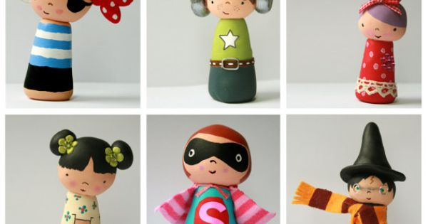 Polymer Clay Kokeshi Dolls tutorial. For my next Polymer Clay program. Seriously,