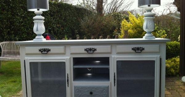 Relooking d 39 un vaisselier breton en buffet meuble tv for Meuble et nous