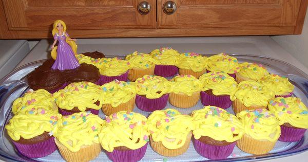 """Tangled"" Cupcake Cake - ok... another cute idea"