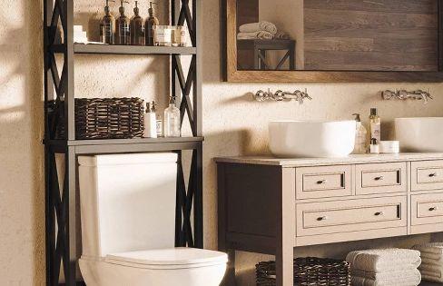 Over Toilet Cross Frame Space Saver Riverridge Home Over Toilet Bathroom Shelf Decor Small Bathroom Decor