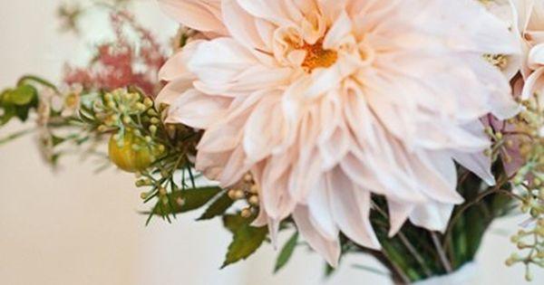 Wildflower bouquet - Lace Trimmed Cafe Au Lait Dahlia Bouquet ...