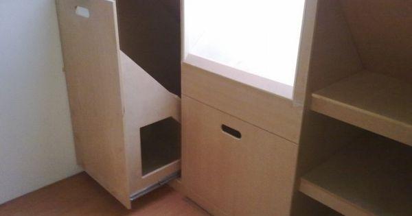 Idee voor ladekast onder schuine wand zolder zolder opbergen pinterest ladekast zolder en - Idee outs kamer bad onder het dak ...