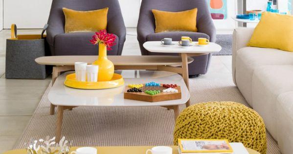 salon gris jaune moutarde d co my maison pinterest deco salon salons and room. Black Bedroom Furniture Sets. Home Design Ideas