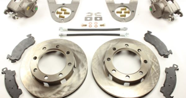 SRW With parking brake calipers Ruffstuff 14 Bolt Disc Brake Conversion Kit