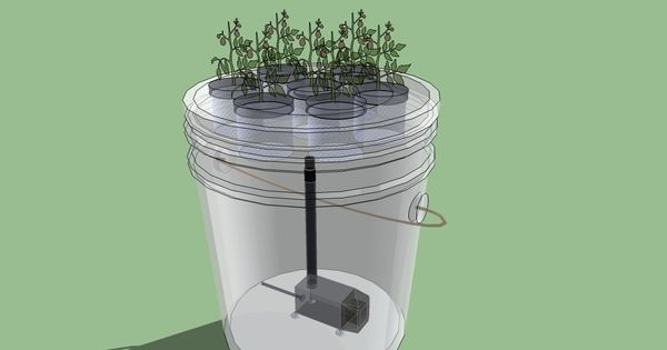 How to make a simple 5 gallon bucket aeroponics system for Dennis mcclung