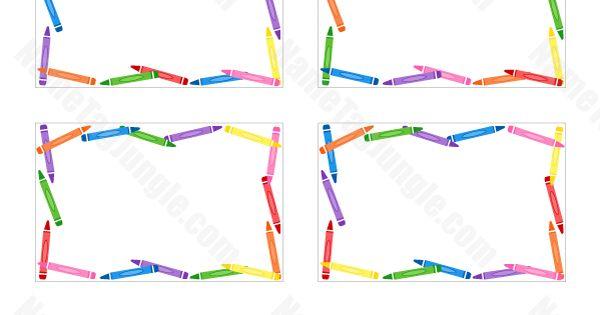 Crayon Name Tags   kinder ideas   Pinterest   Crayons and