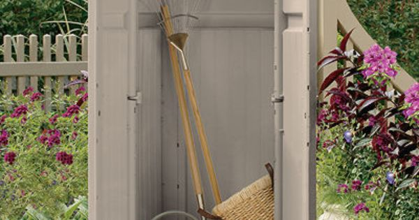 Tool store, Outdoor storage and Door latches on Pinterest