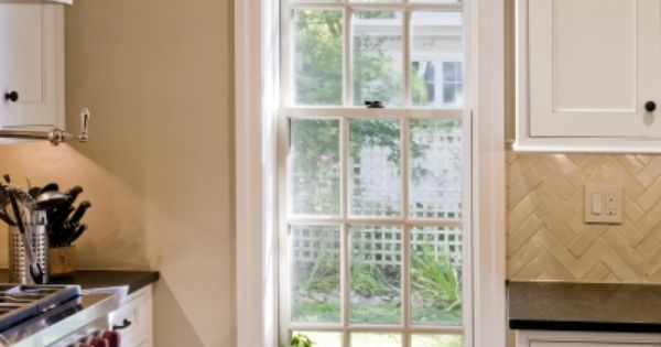 The newly installed cottage style window from pella for Cottage style double hung windows