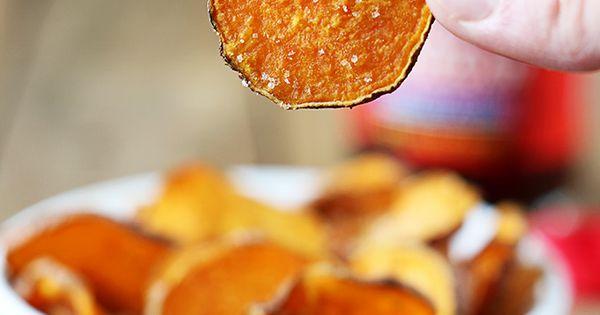 Snack Recipe: Salt & Vinegar Sweet Potato Chips vegan glutenfree