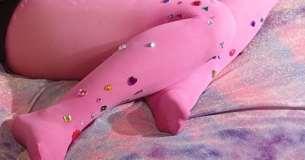 #pink tights jewels glitter