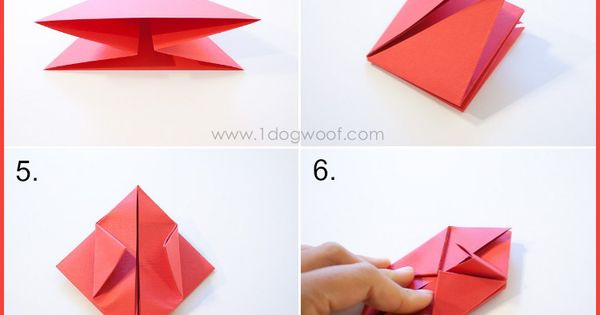 origami apple favor cubos papiroflexia y papel