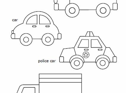 free printable car police car school bus and truck to color and use for crafts feltro. Black Bedroom Furniture Sets. Home Design Ideas