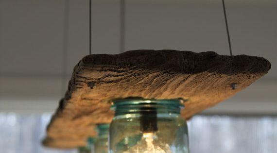 Another mason jar lighting idea.