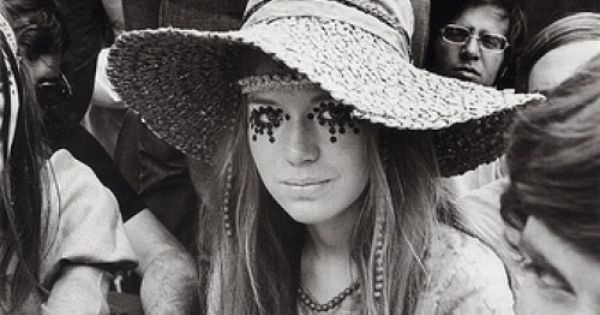 Hippy style - floppy hat, beads, kaftans etc