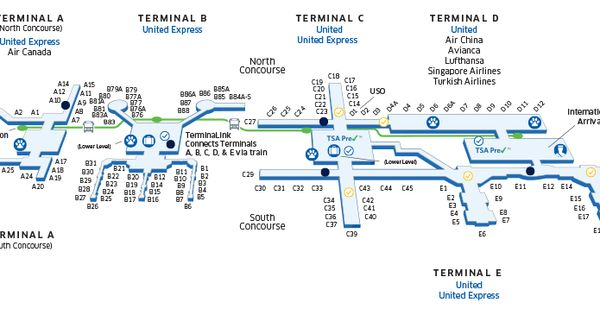 houston george bush intercontinental iah airport map oh the