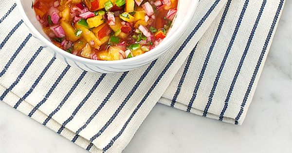 love and lemons: peach salsa